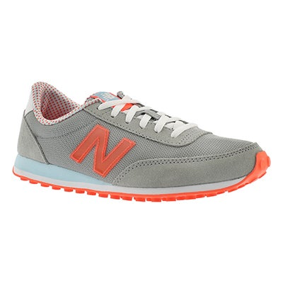 New Balance Women's 410 grey/red lace up sneakers