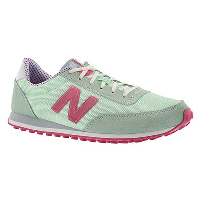 New Balance Women's  410 green/red lace up sneakers