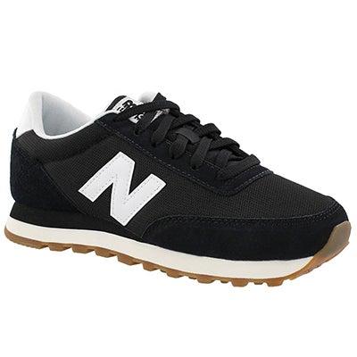 Lds 501 black lace up sneaker