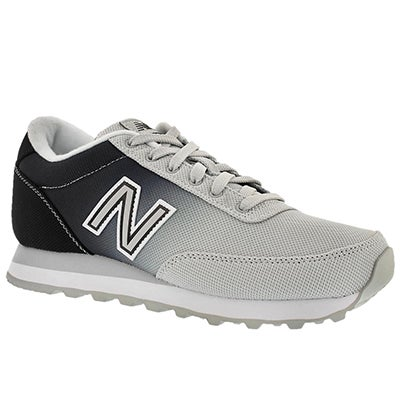 New Balance Women's 501 black/white ombre lace up sneakers