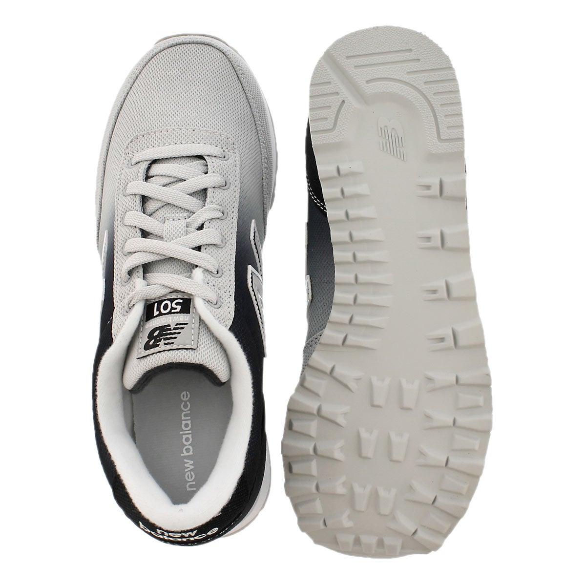Lds 501 black/white ombre lace up