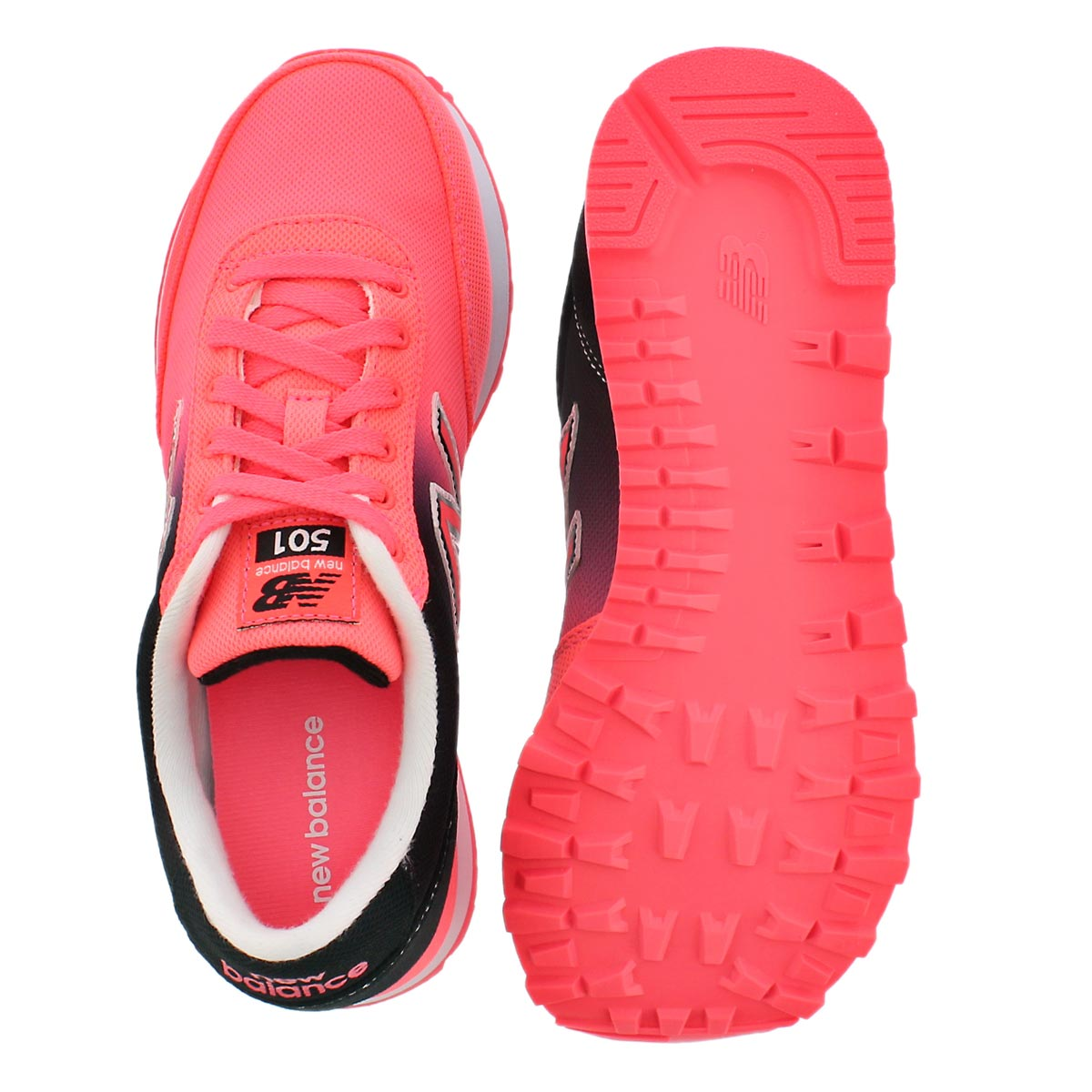 Lds 501 black/coral ombre lace up