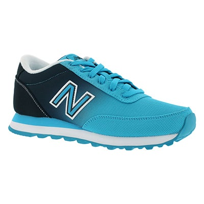 New Balance Women's 501 black/blue ombre lace up sneakers