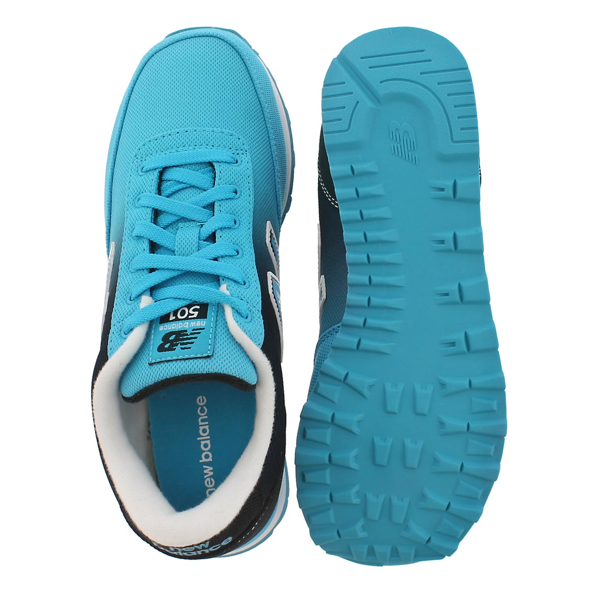 Lds 501 black/blue ombre lace up
