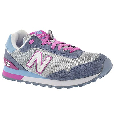 New Balance Women's 515 purple/grey lace up sneakers