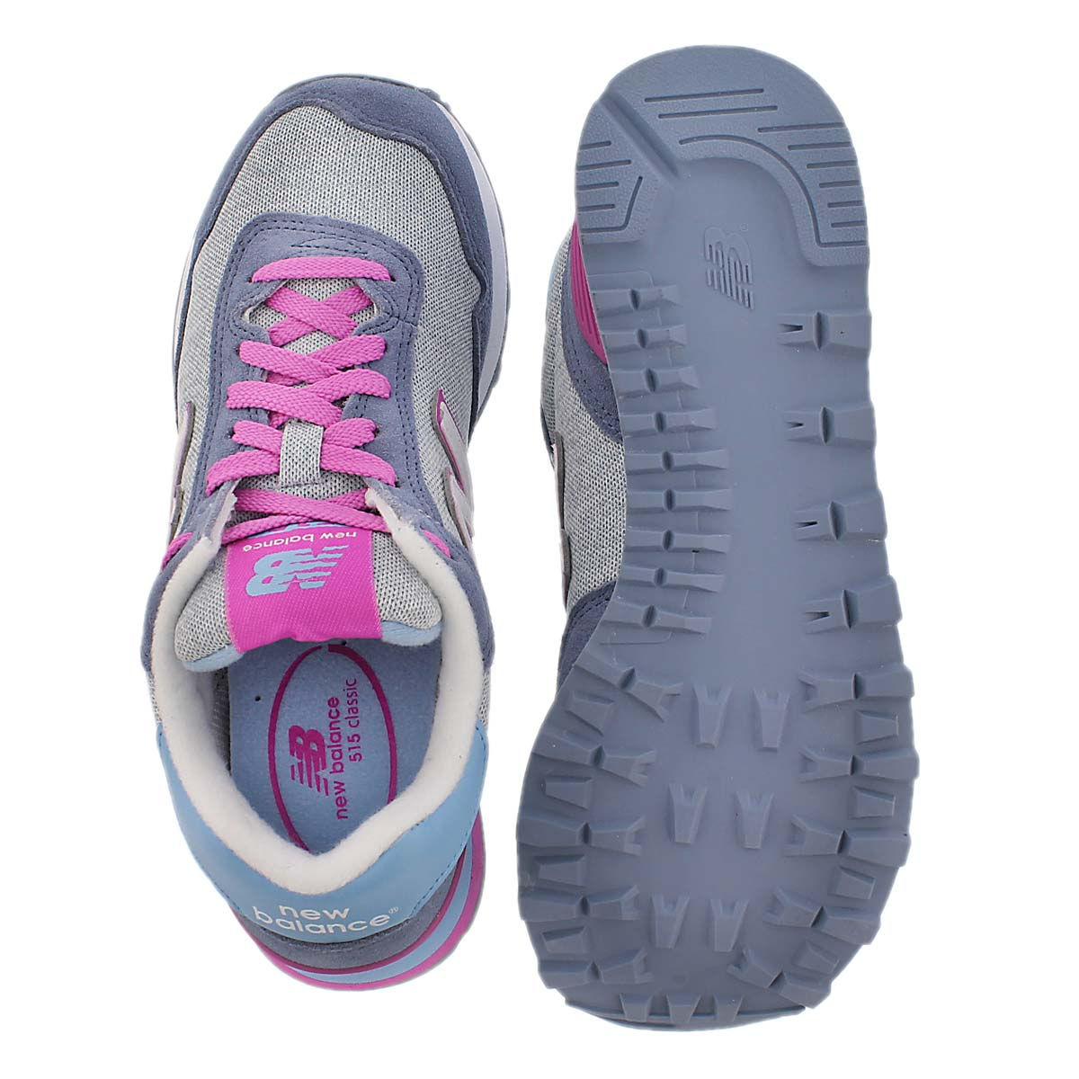 Espadrille lacée 515, violet/gris, femme