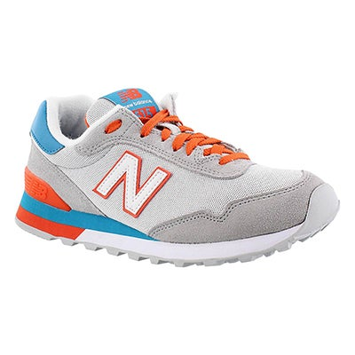 New Balance Women's 515 grey/orange lace up sneakers