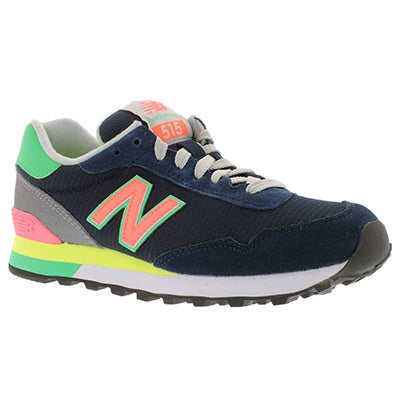 New Balance Women's 515 navy/multi lace up sneakers