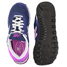 Lds 515 navy/pink lace up sneaker