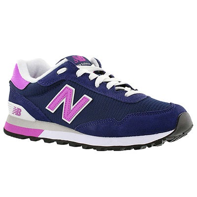 New Balance Women 515 navy/pink lace up sneakers