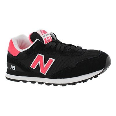 New Balance Women's 515 black/cherry lace up sneakers
