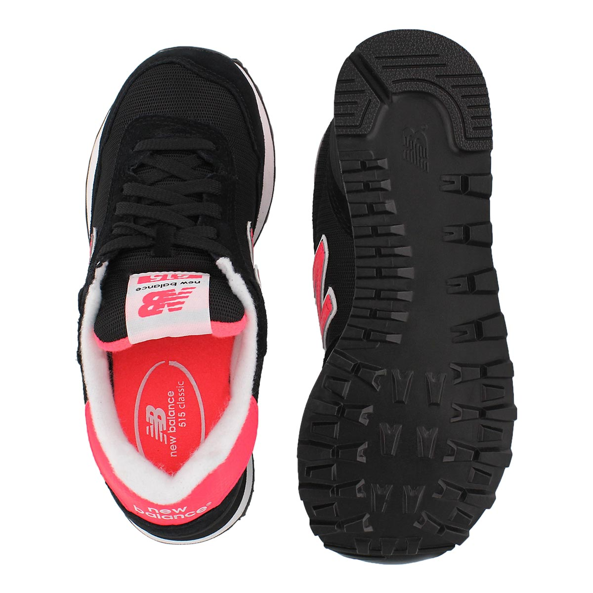 Lds 515 black/cherry lace up sneaker