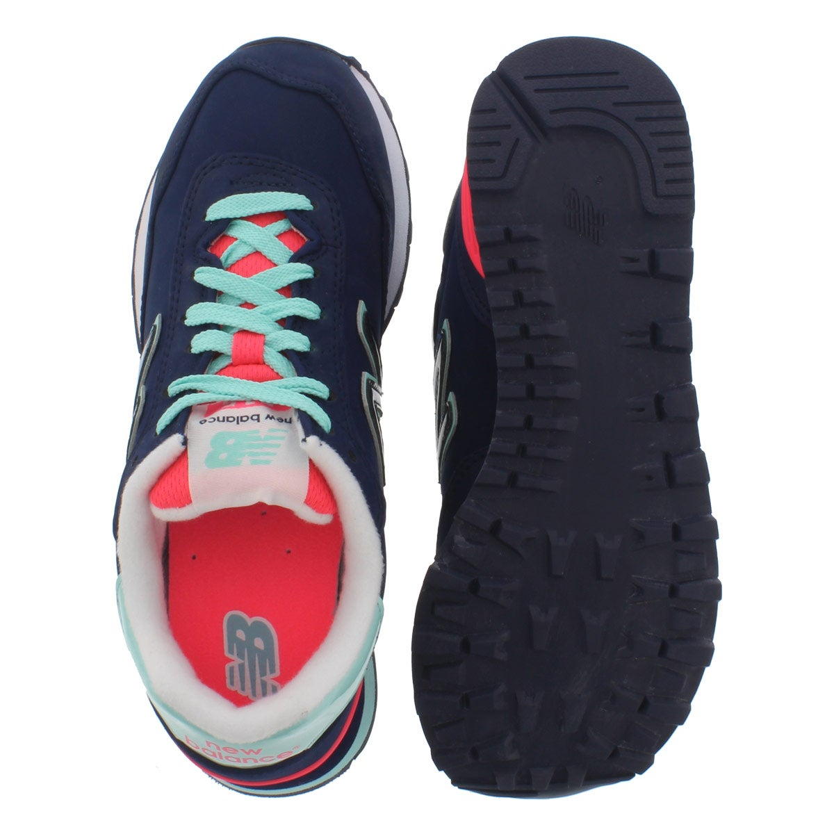 Lds 515 nvy/bright blue lace up sneaker