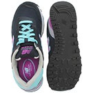 Lds 515 navy lace up sneaker