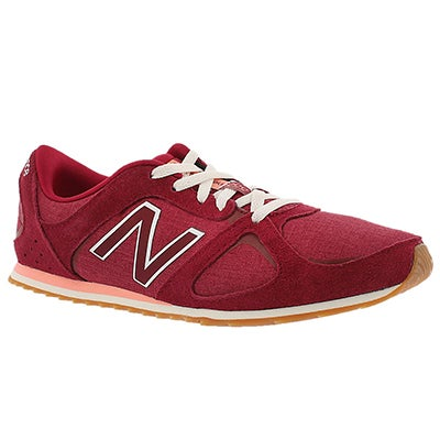 New Balance Women's 555 red lace up sneakers