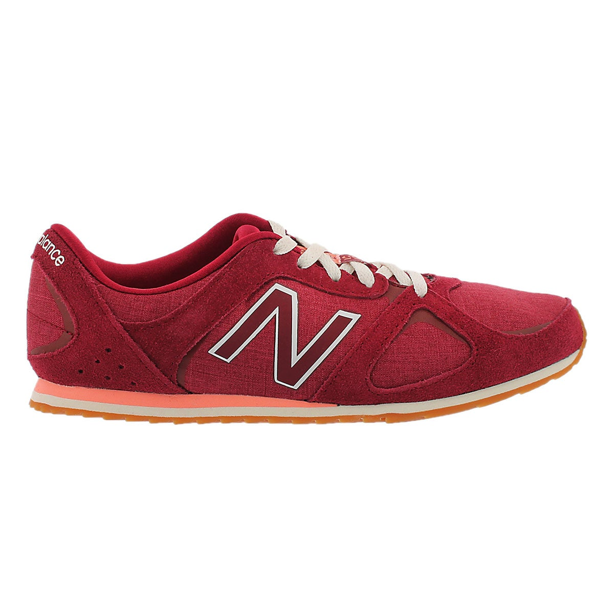 Lds 555 red lace up sneaker