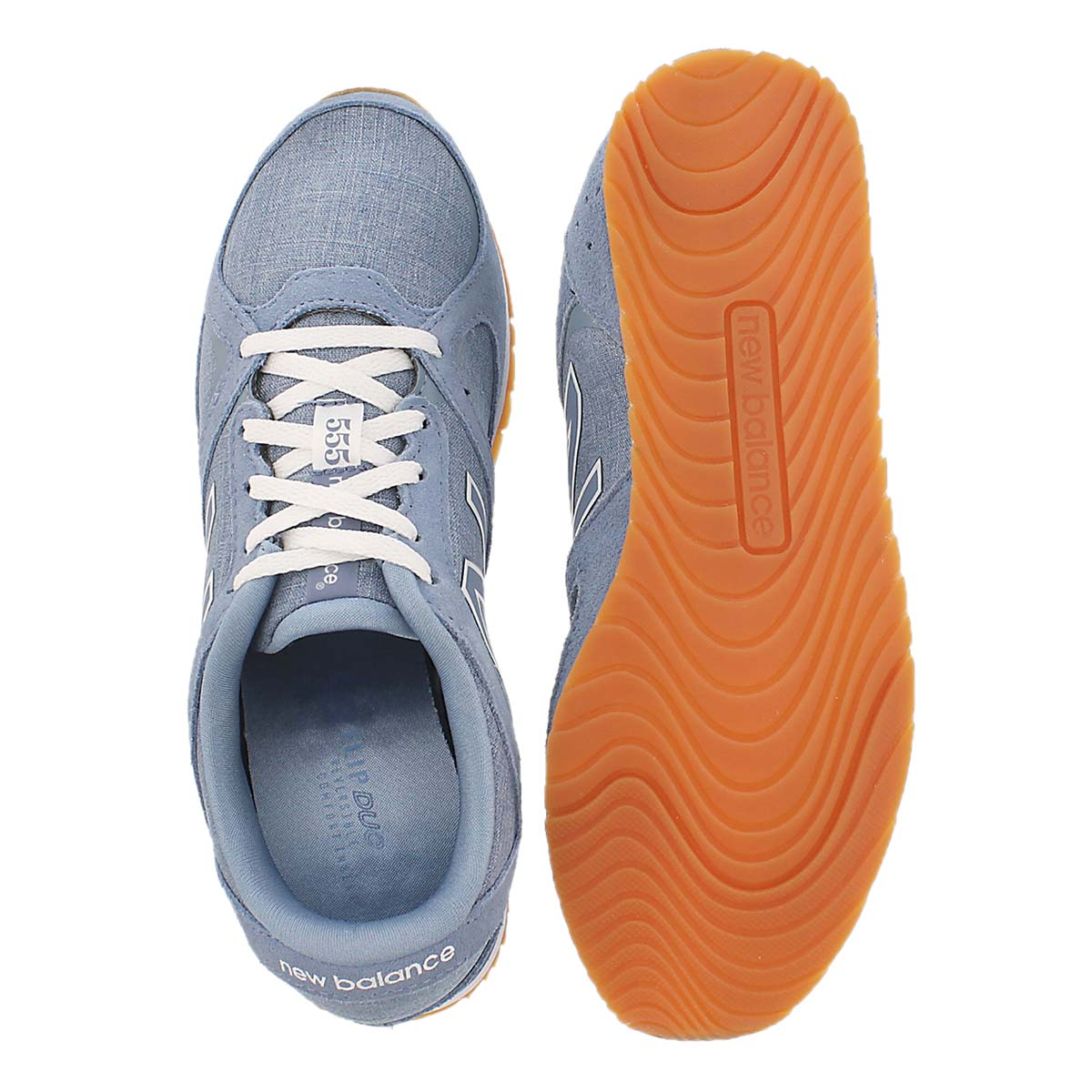 Lds 555 light blue lace up sneaker