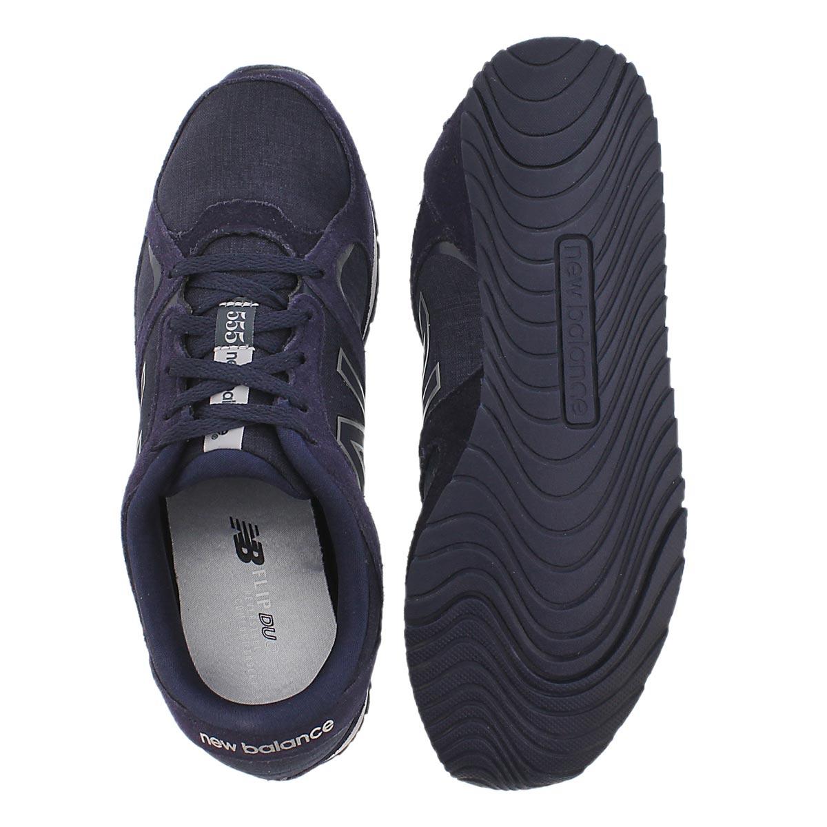 Lds 555 dk purple lace up sneaker