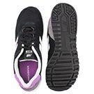 Lds 565 blk/purple lace up sneaker