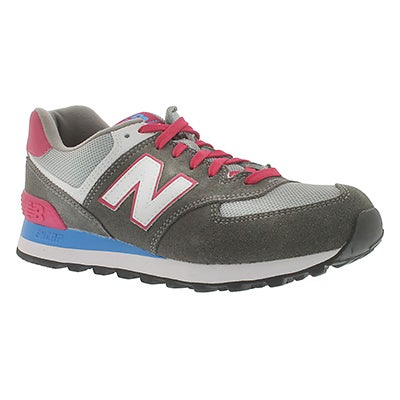 New Balance Women's 574 grey lace-up sneakers