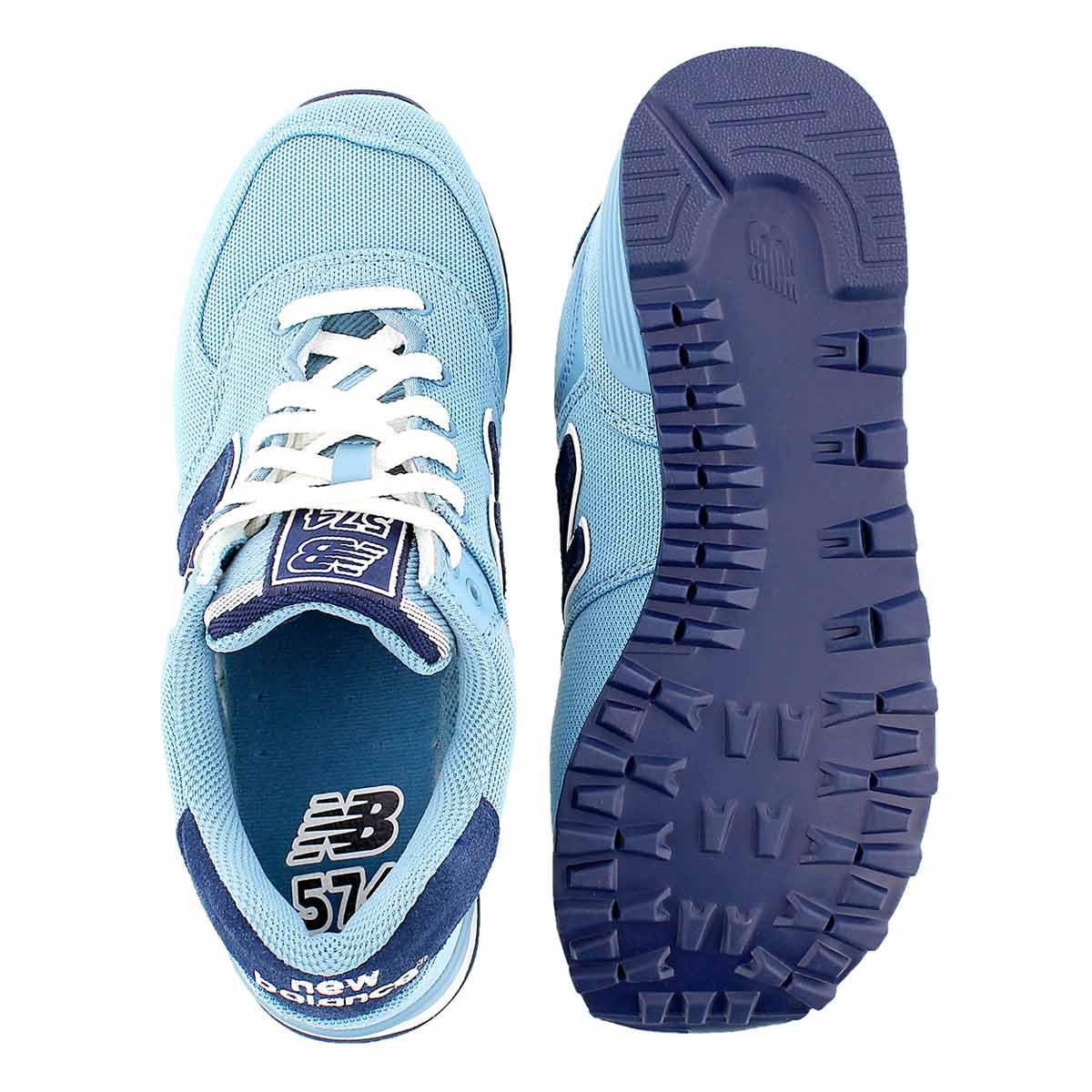 Lds 574 Carolina blue lace up sneaker