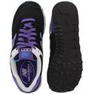 Lds 574 blk/blue lace up sneaker