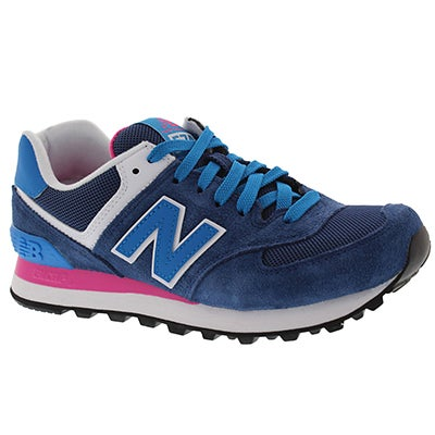 New Balance Women's 574 navy/blue lace up sneakers