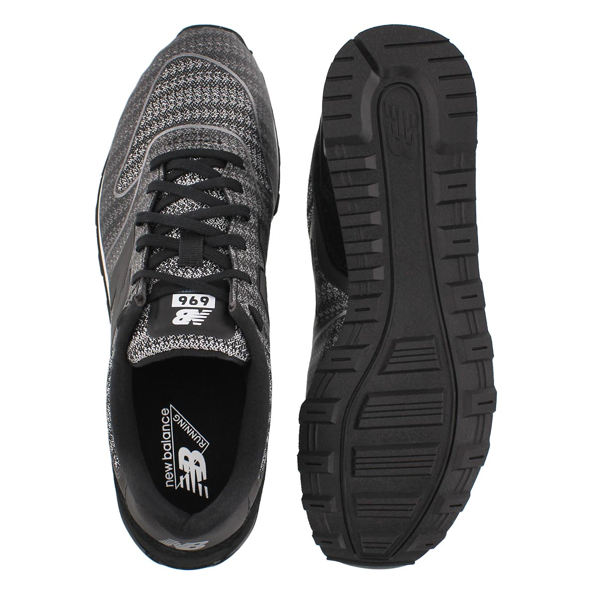Lds 696 blk/cyclone lace up sneaker
