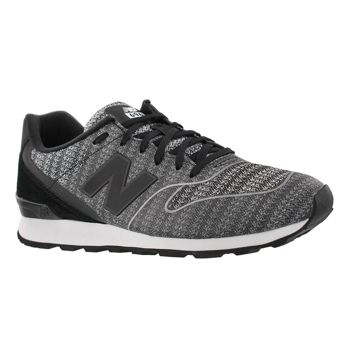 Women's 696 black/cyclone lace up sneakers