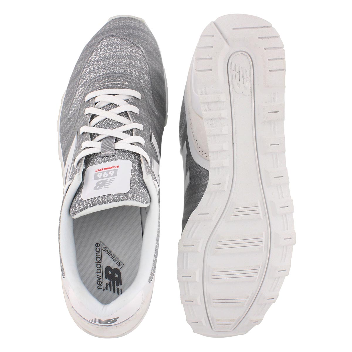 Lds 696 wht/shockwave lace up sneaker
