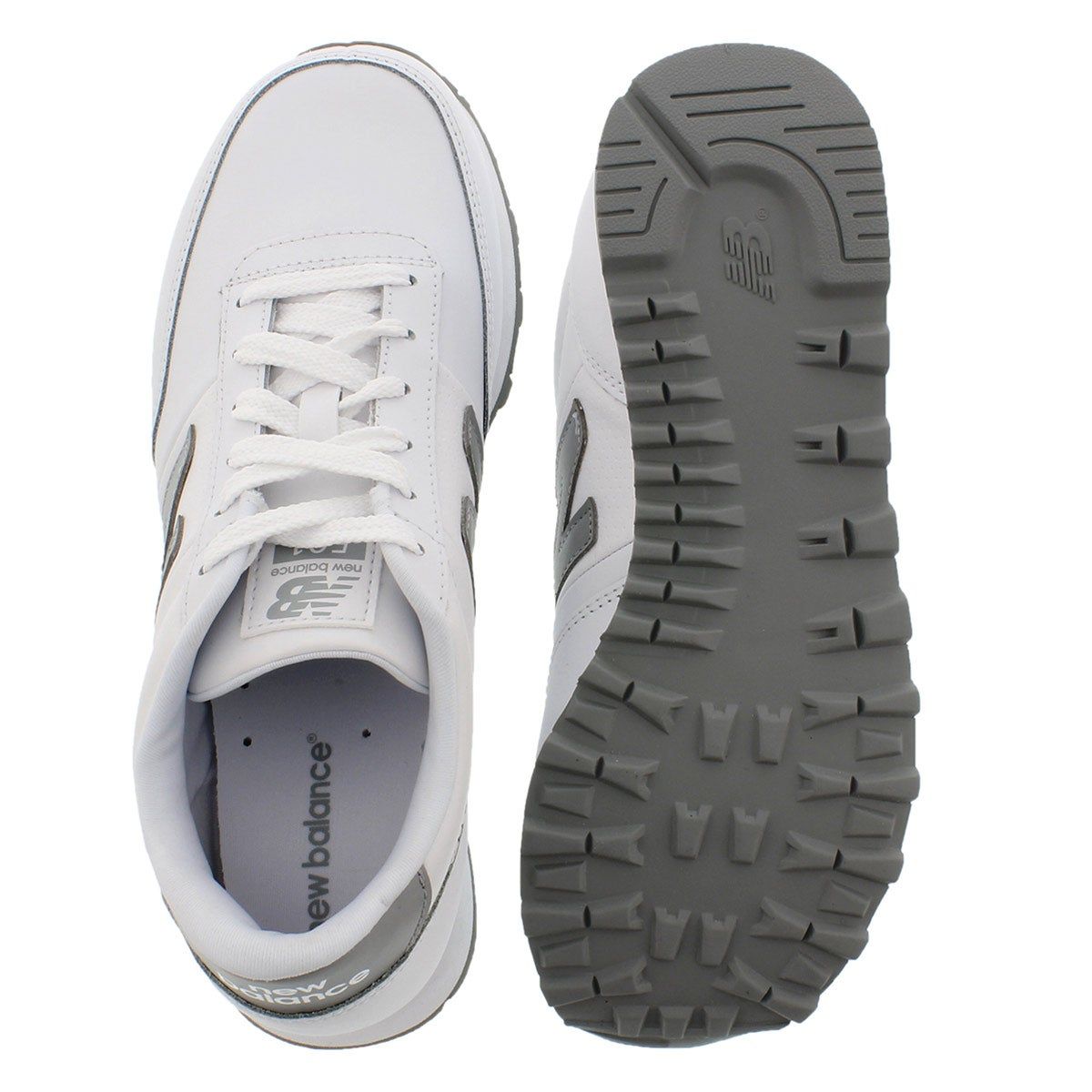 Lds 501 white/grey lace up sneaker