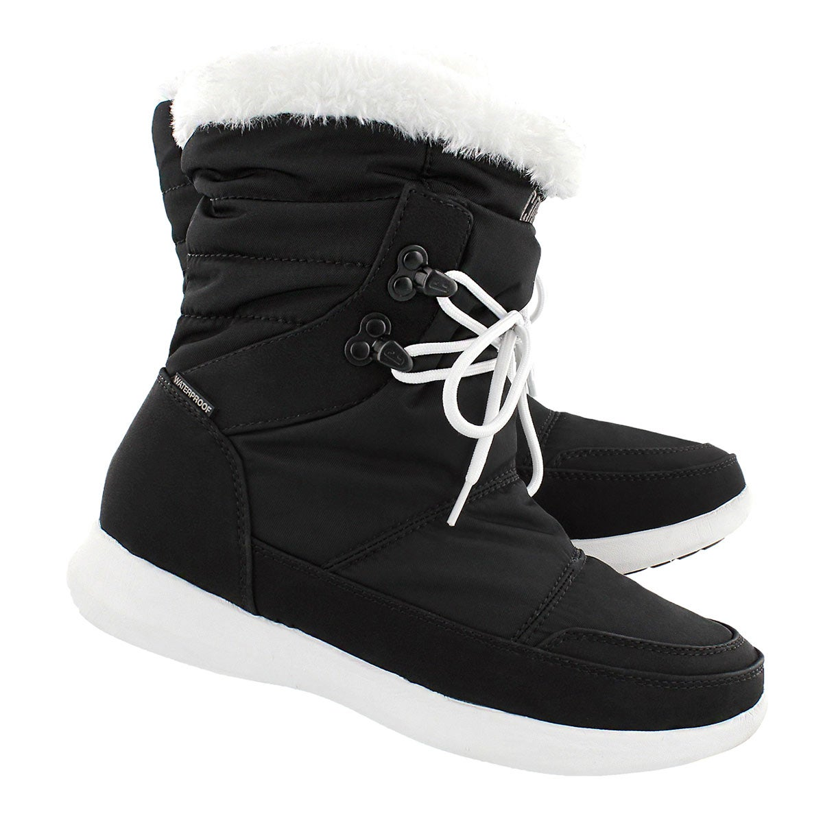 Lds Wonder blk wtpf pull on winter boot