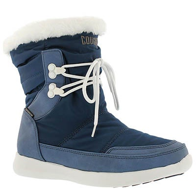 Cougar Women's WONDER blue wtrprf pull on winter boots