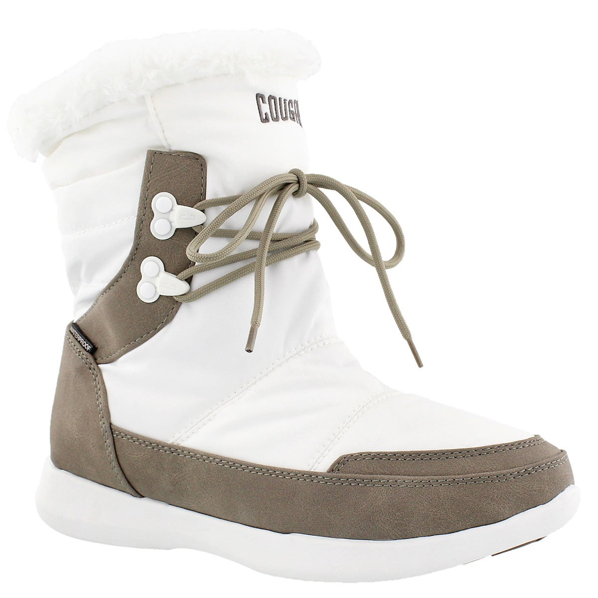 Lds Wonder wht wtpf pull on winter boot