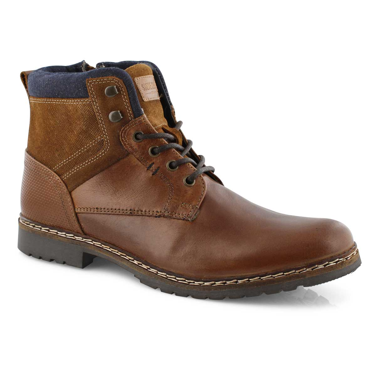 Mns Wranglerr cognac lace up ankle boot