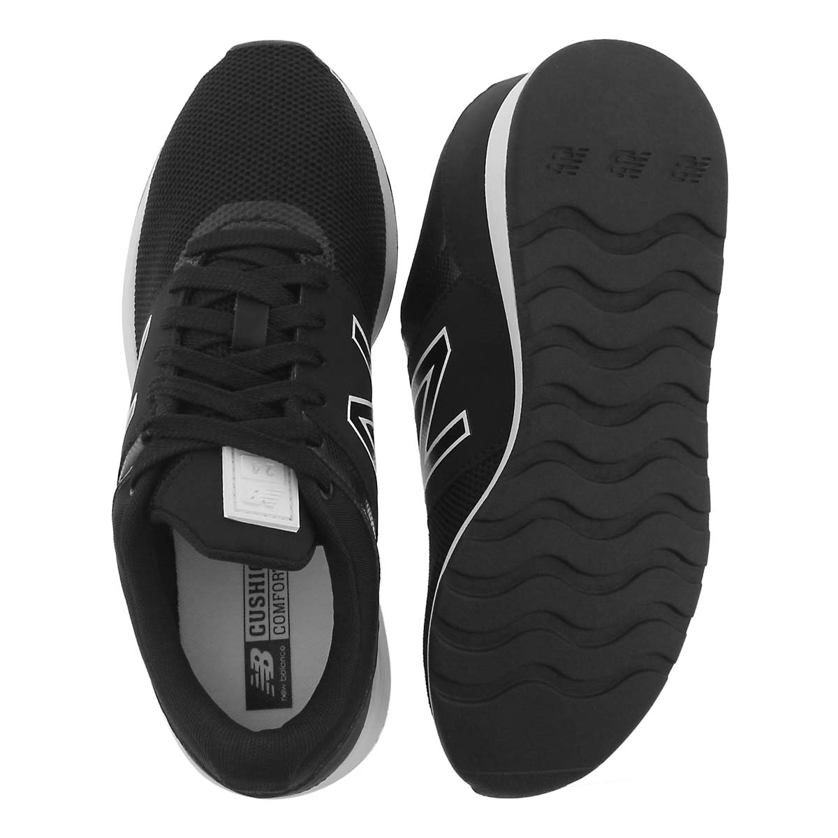 Lds 24 black/white lace up sneaker