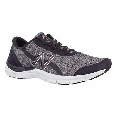 Lds 711v3 eldrbrry/thstl lace up sneaker
