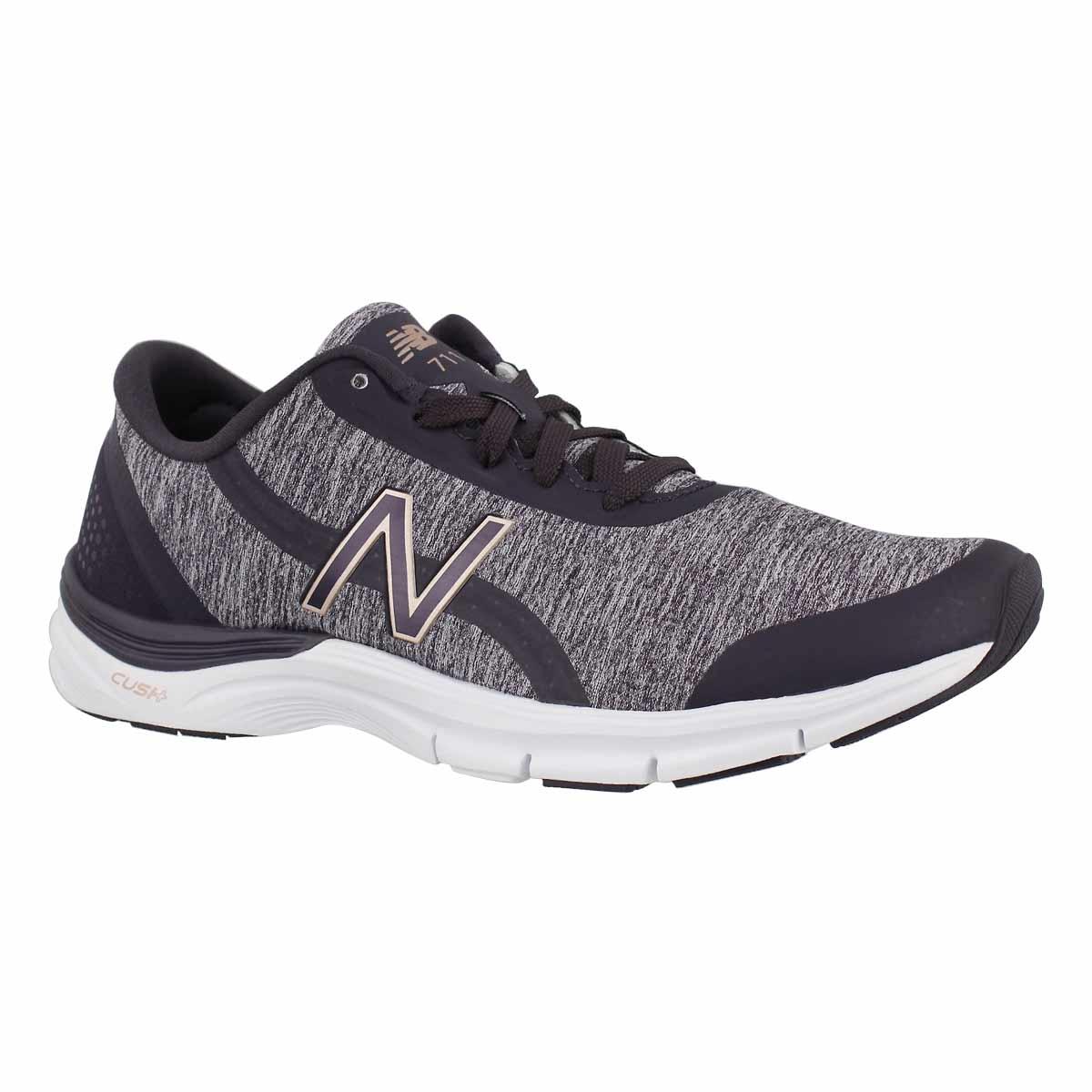 Women's 711v3 eldrbrry/thstl lace up sneakers