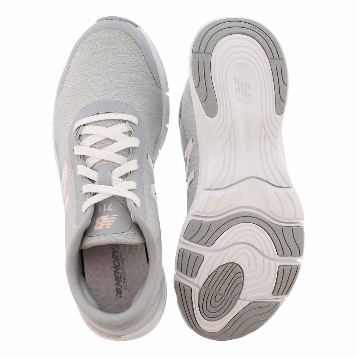 Lds 711v3 wht/sunrise lace up sneaker