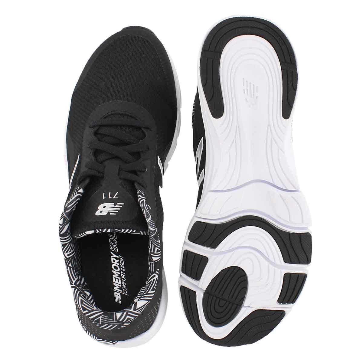 Lds 711v3 black/white lace up sneaker