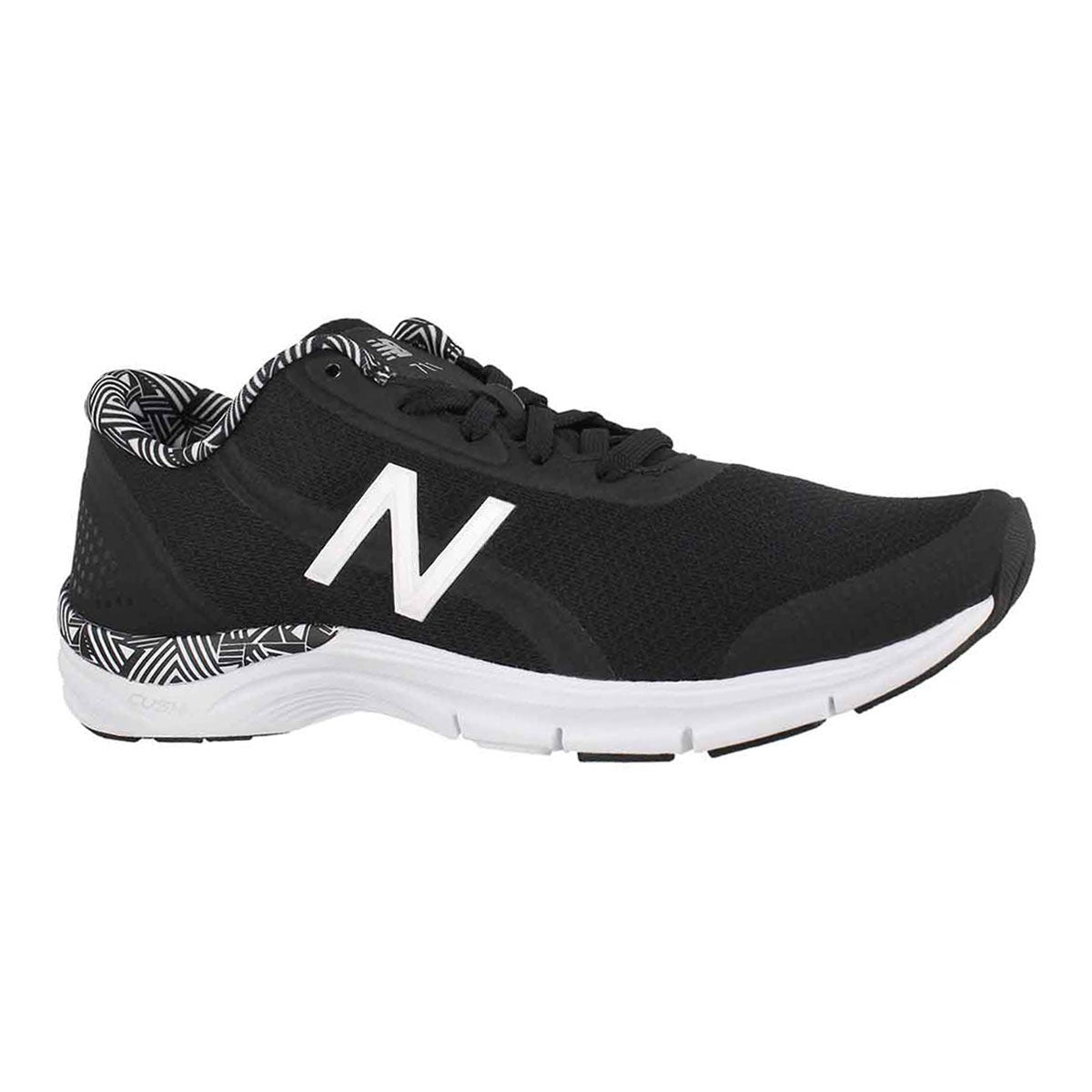 Women's 711v3 black/white lace up sneakers