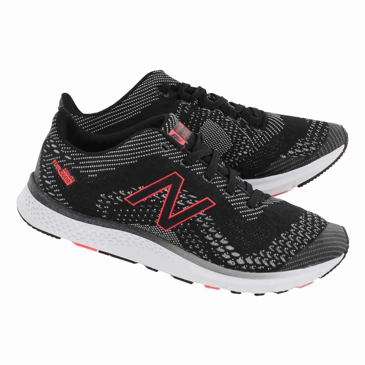 Lds Agility V2 blk/slvr lace up sneaker