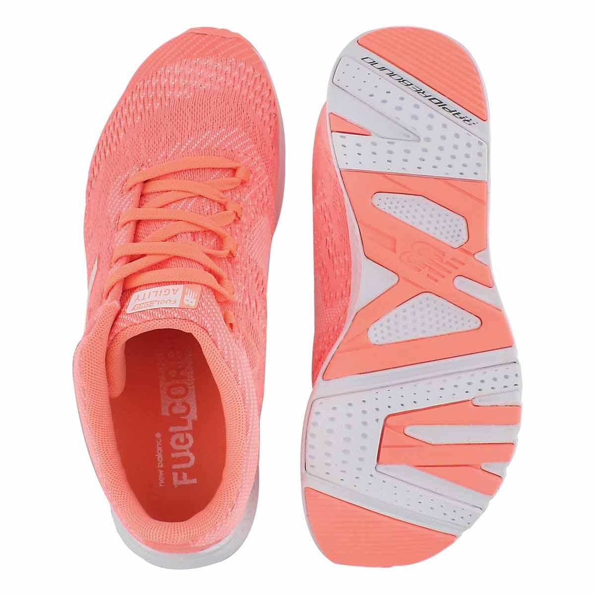 Lds Agility V2 fiji/wht lace up sneaker