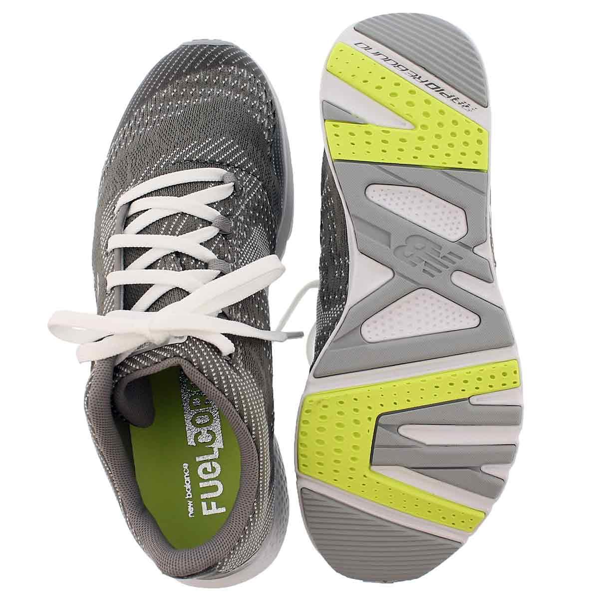 Lds Agility V2 slvr/wht lace up sneaker