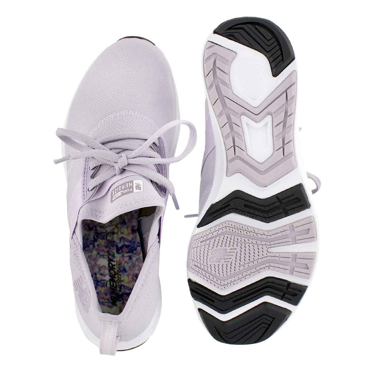 Lds Fuelcore thistle/wht lace up sneaker