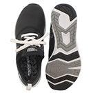 Lds Fuelcore blk/wht lace up sneaker