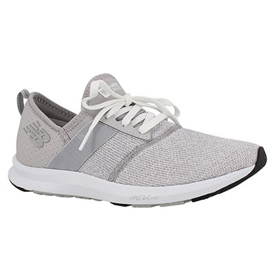 Lds Fuelcore ovrcast/wht lace up sneaker