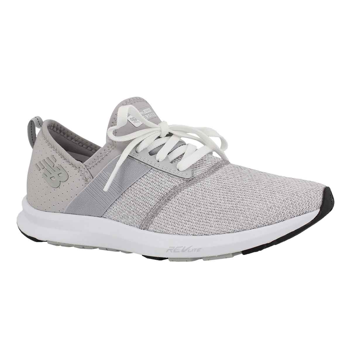 Women's FUELCORE overcast/white lace up sneakers