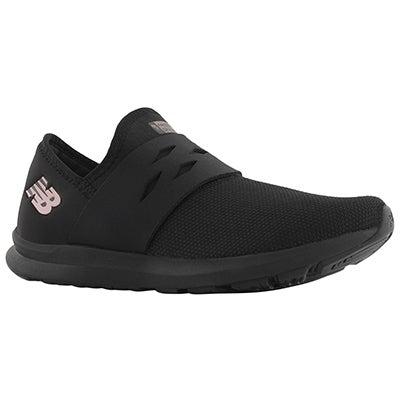 Lds Spark black slip on sneaker