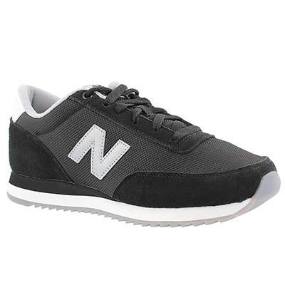 New Balance Women's 501 black lace up sneakers